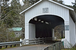 Oregon Covered Bridges     Wending Bridge