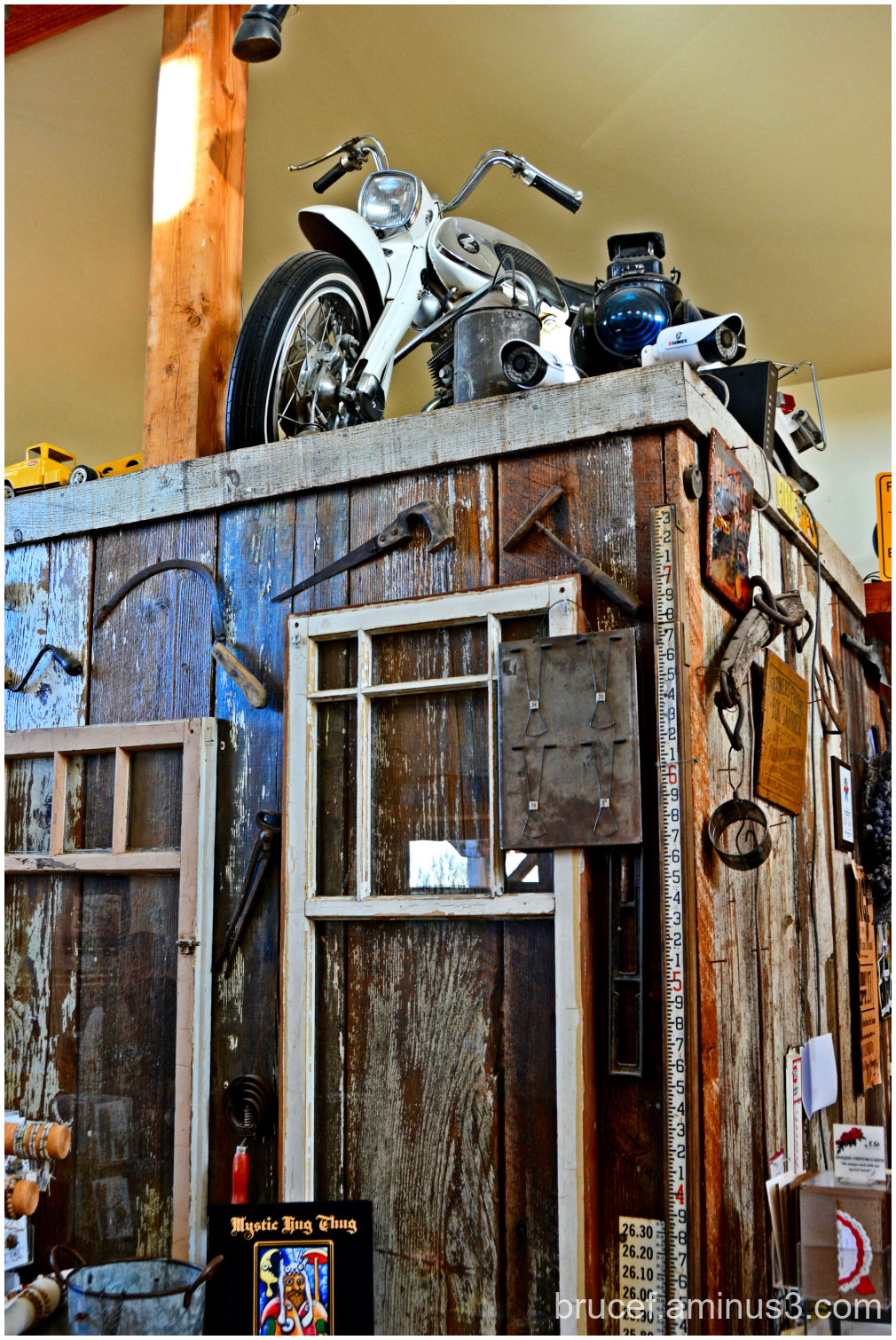 Antique Store with Motorcycle.