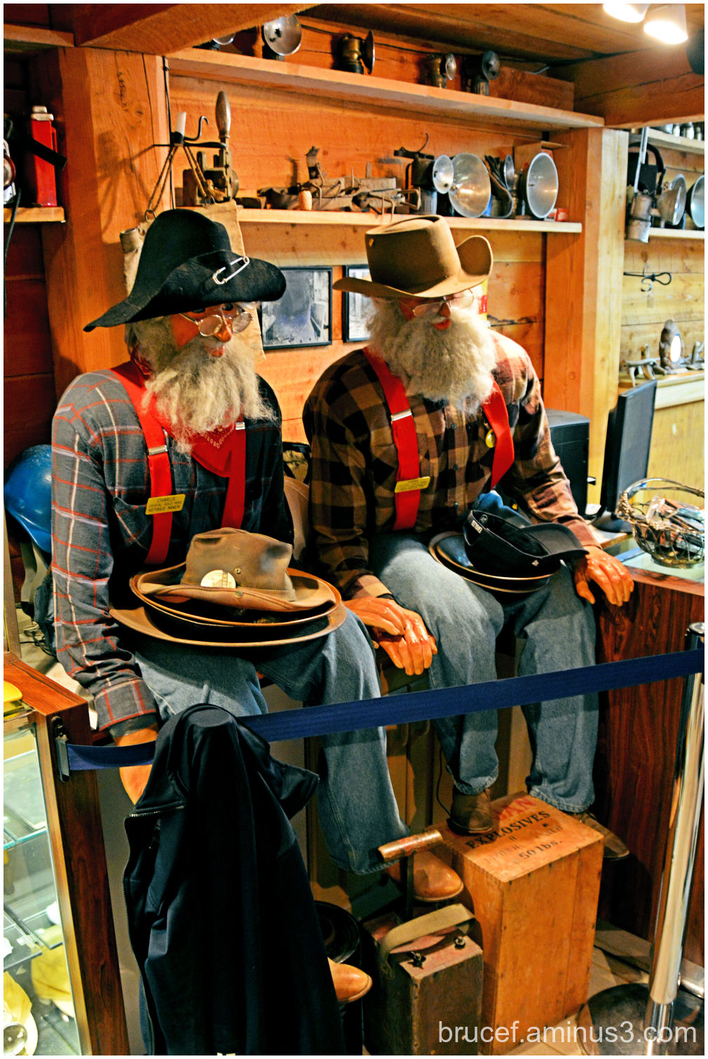 Miners at the Gold Mine Store