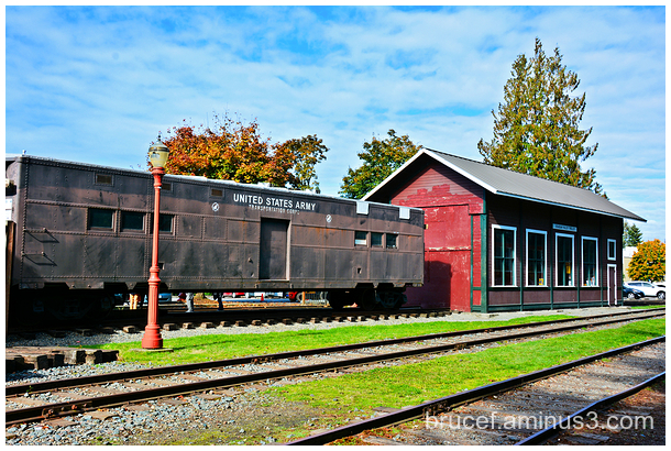 Army Train Car at Issaquah Museum
