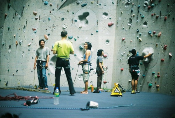 Lead Climbing at Camp 5