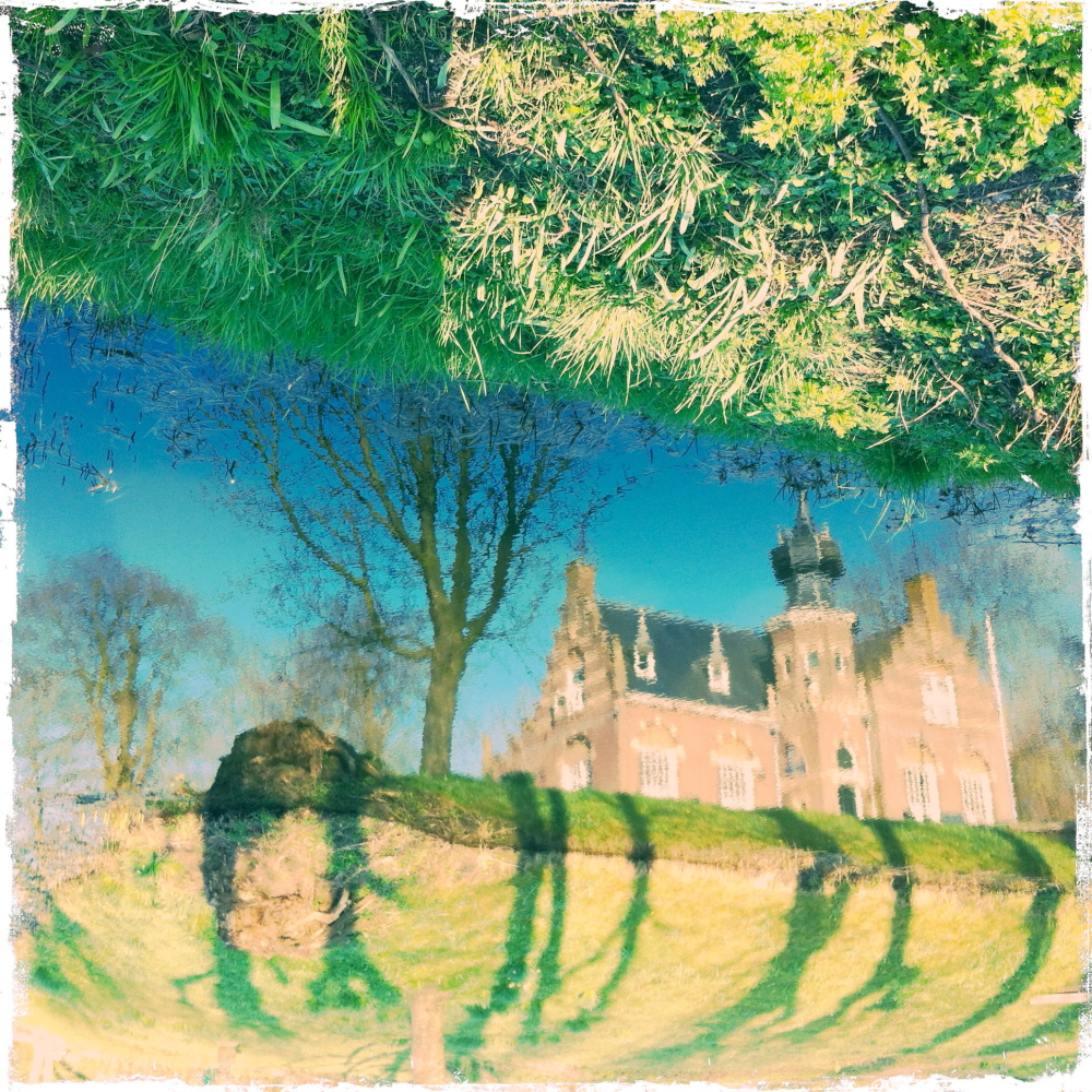 castle kasteel reflection