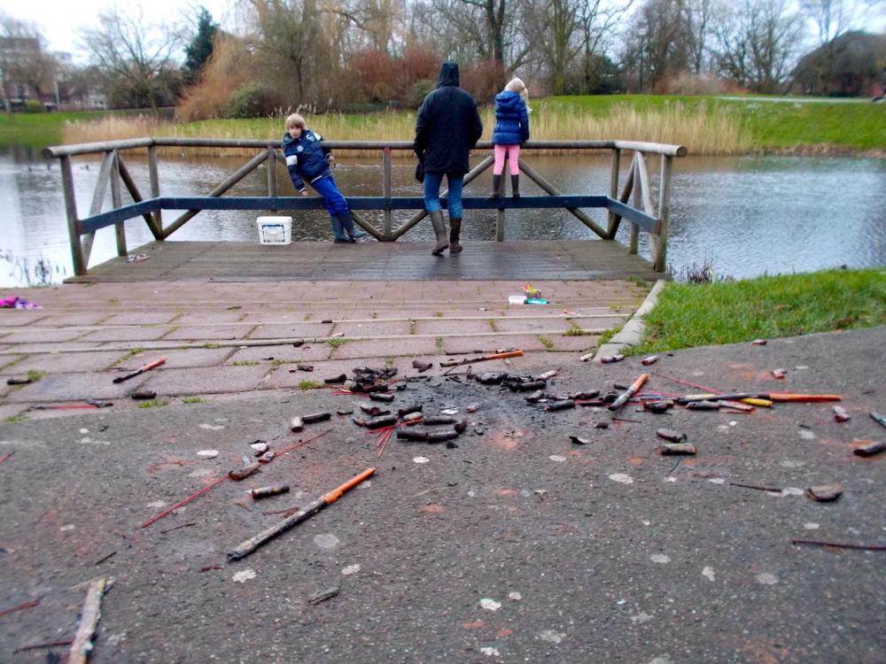 hengelen vissen vuurwerk