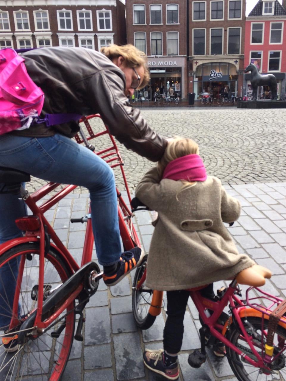 bikes father child