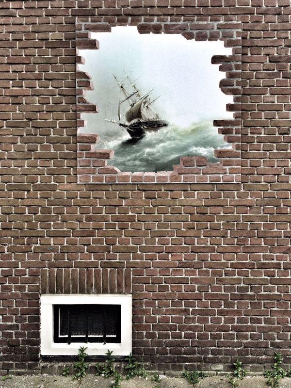 Wall mural schip ship