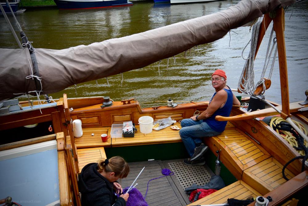 ship schip knitting breien fishing vissen