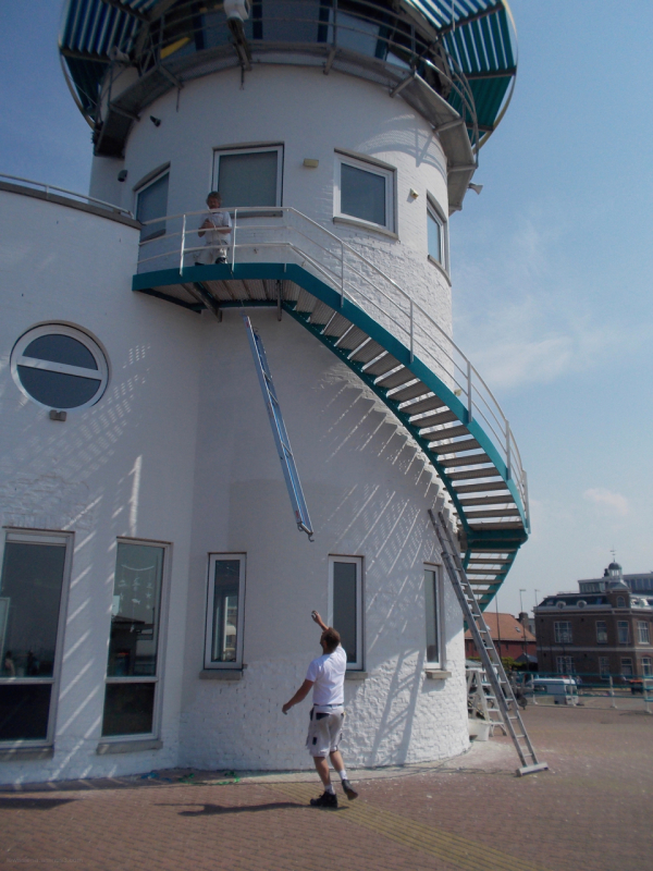 ladder maintenance lighthouse