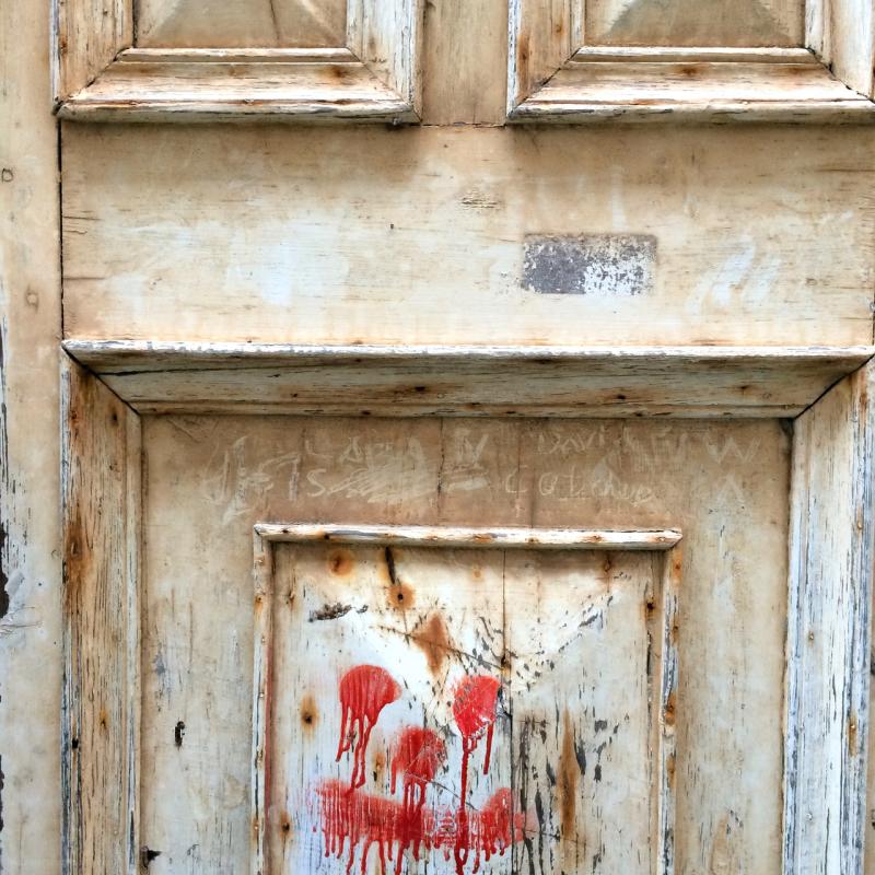 door paint face