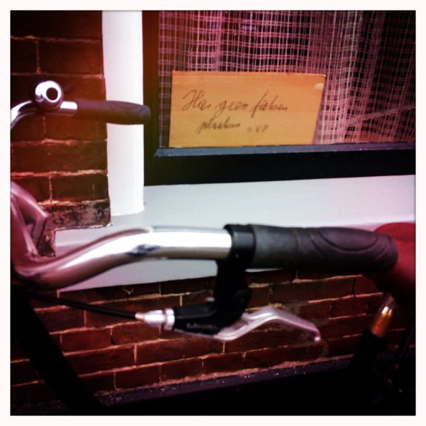 bike fiets window sign