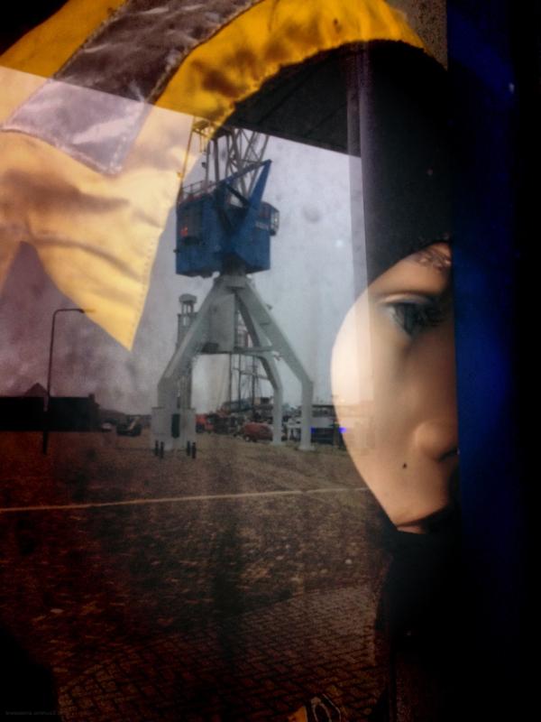 kraan dummy crane diver rescue reflectie