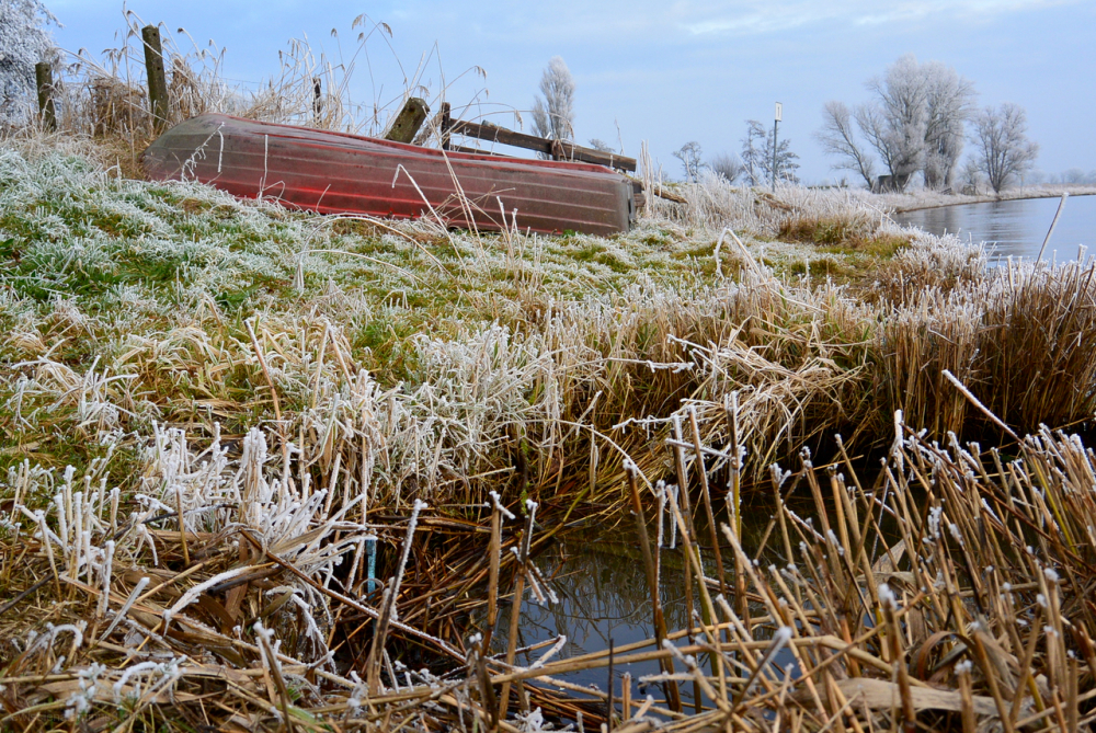 boat boot rijp frost