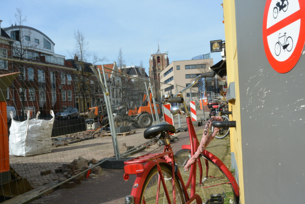bikes sign oranje rood