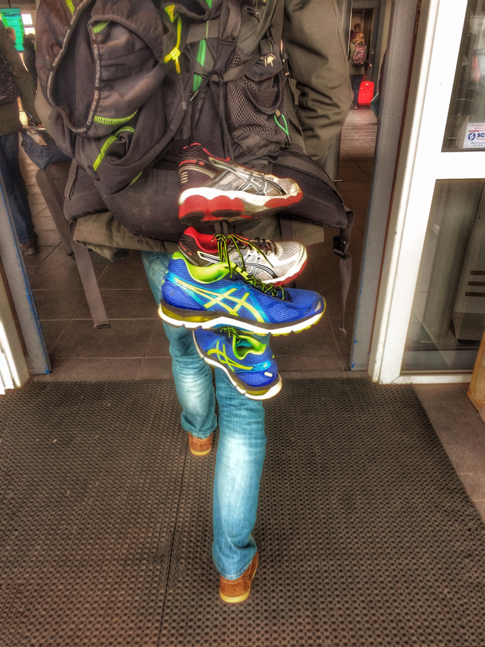 runner rucksack sport shoes schoenen