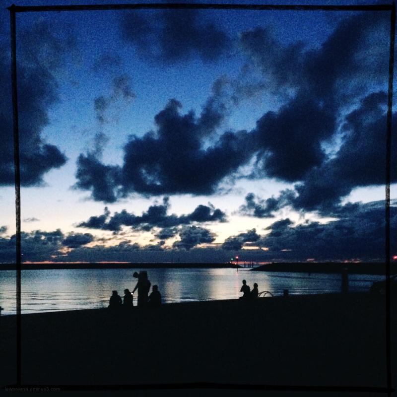 haven sunset zonsondergang people mensen