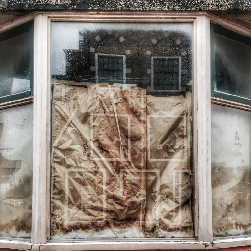 renovation window ramen reflections
