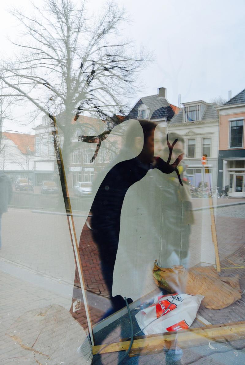 etalage window reflection