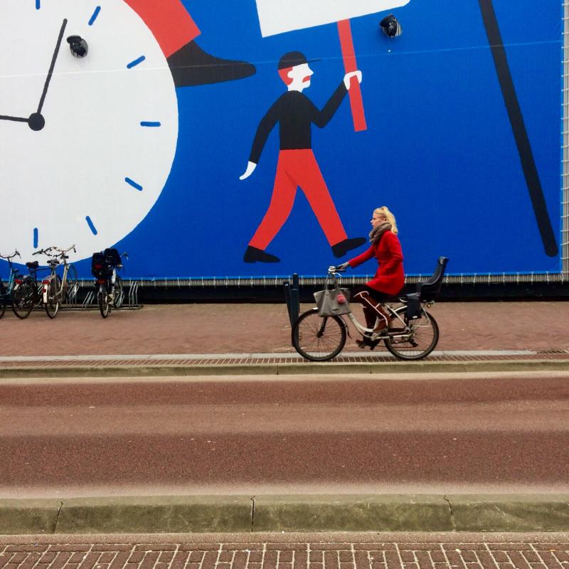 mural bike fiets