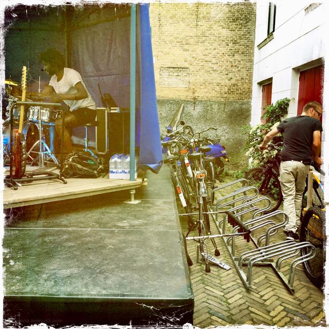 music stage musician biker
