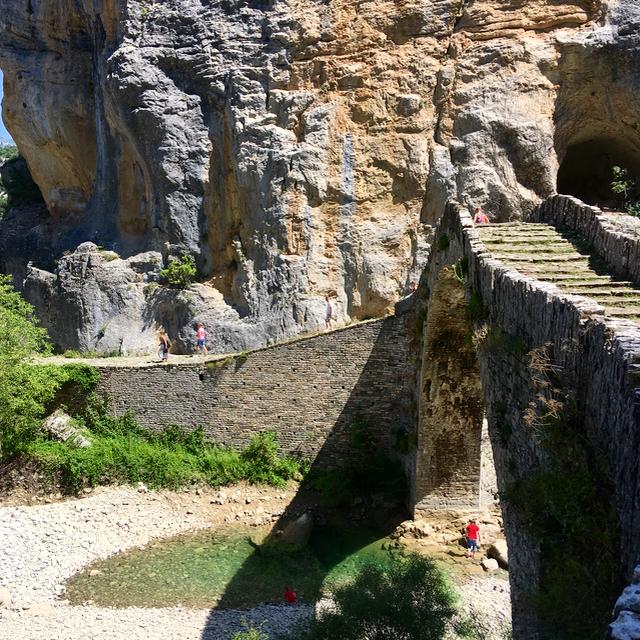 old bridge greece griekenland mountain berg