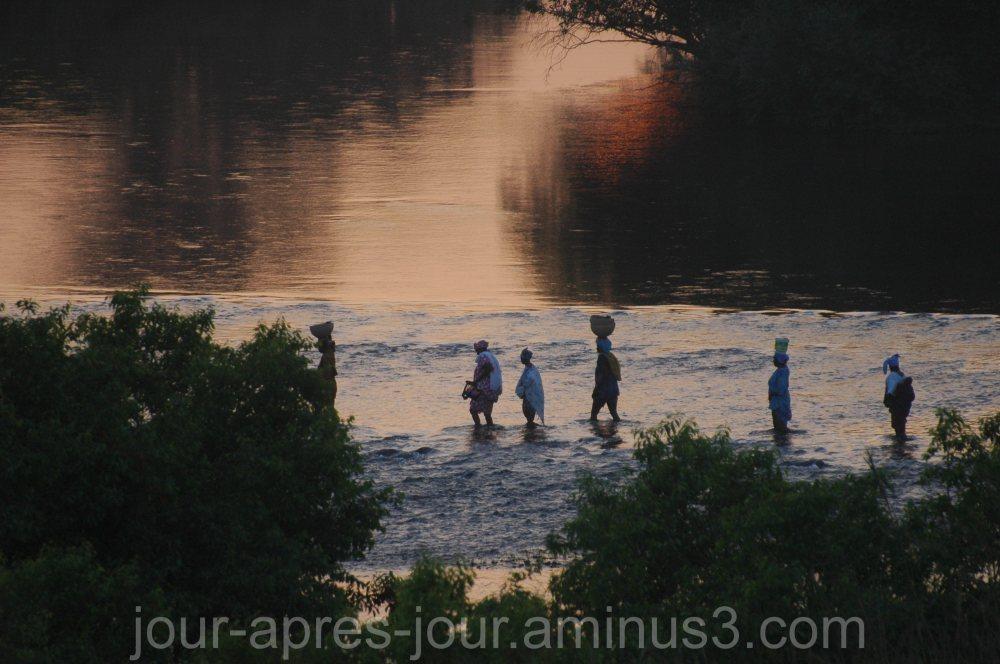 coucher de soleil sur la Gambie