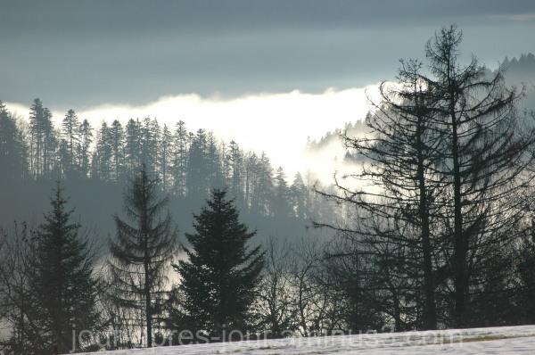 Brume matinale sur le Doubs
