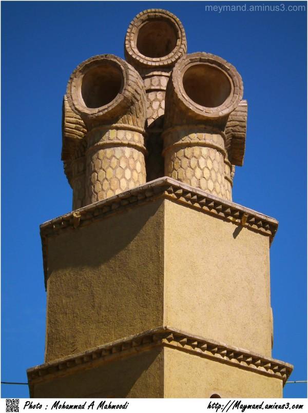 Pipe-type wind tower1 - Sirjan