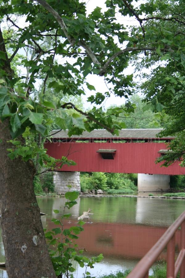 Covered Bridge at Cataract Falls, Indiana
