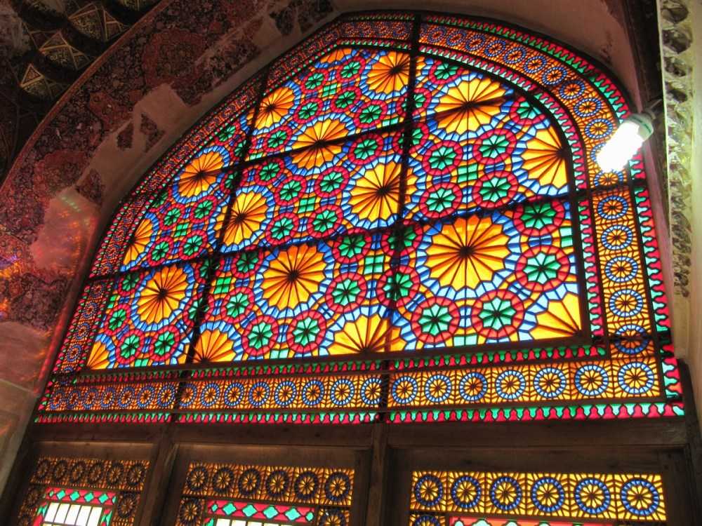 Colorful historical window
