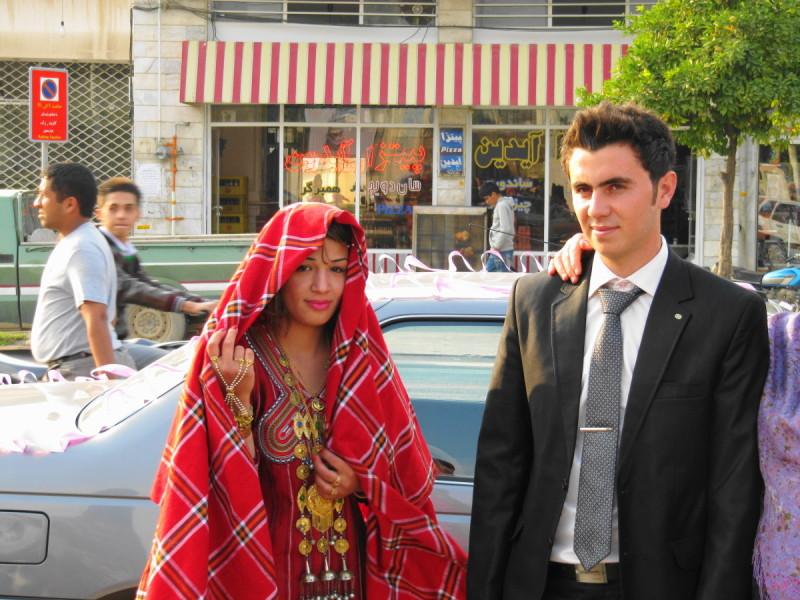 Turkmen bride groom gonbad-kavoos iran