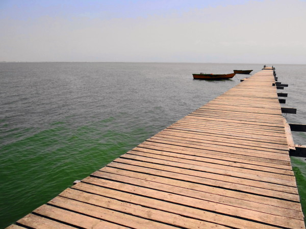 Wooden Wharf ashooradeh-island golestan iran