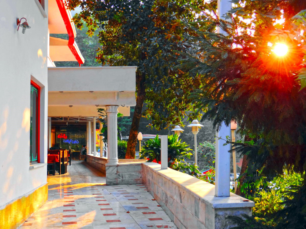 sunset orange naharkhoran hotel gorgan iran