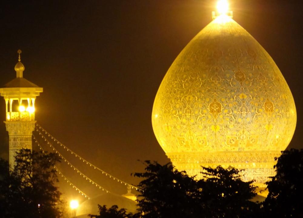Turquoise-dome shah-cheragh shiraz iran