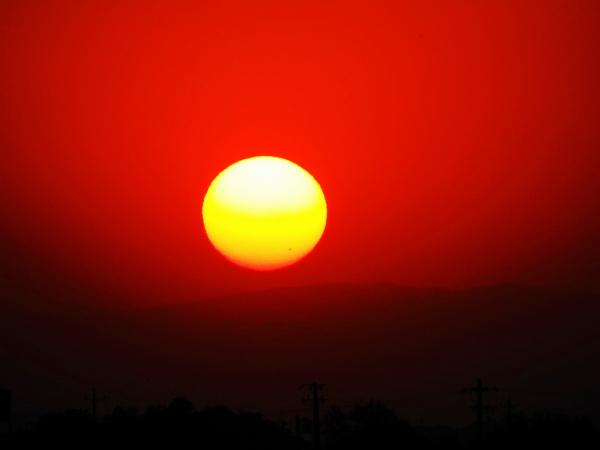 sunset orange shiraz iran