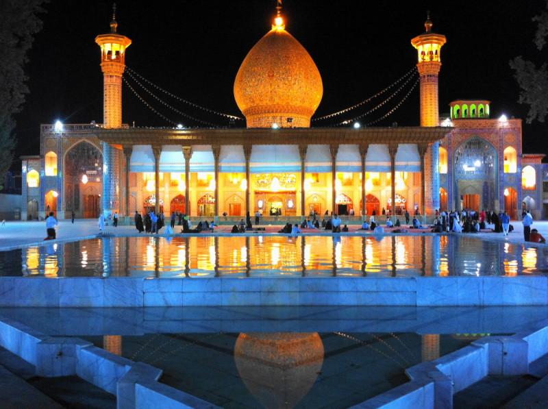 shah-cheragh shiraz iran dome