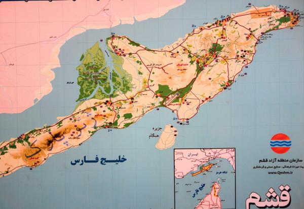 qeshm island hormozgan map جزیره قشم