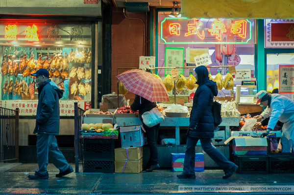 A Moment in Chinatown, In the Rain.