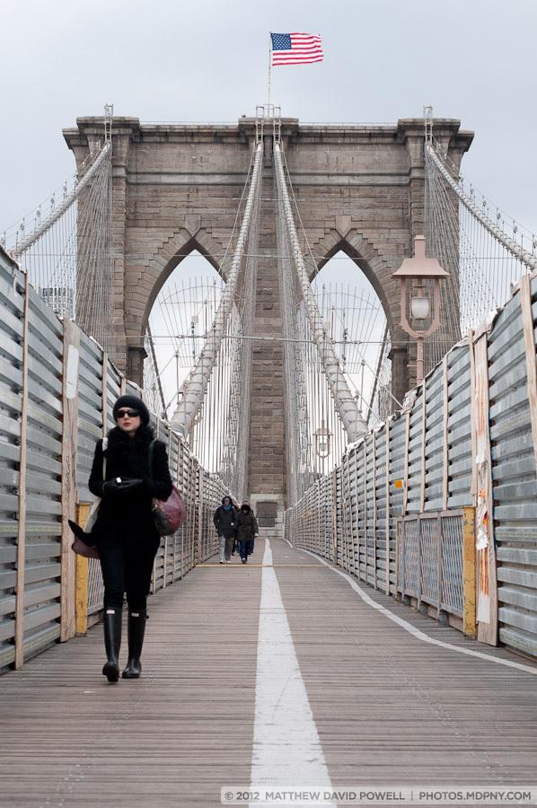 Brooklyn Bridge Construction.