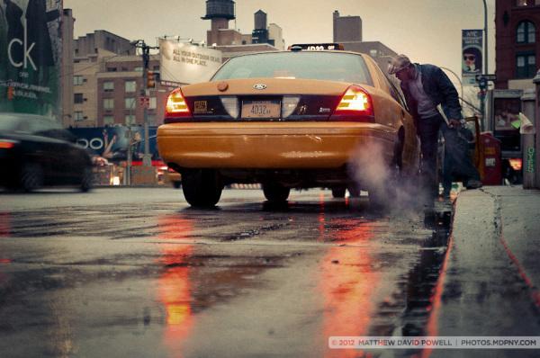 SoHo Cab Fare in the Rain