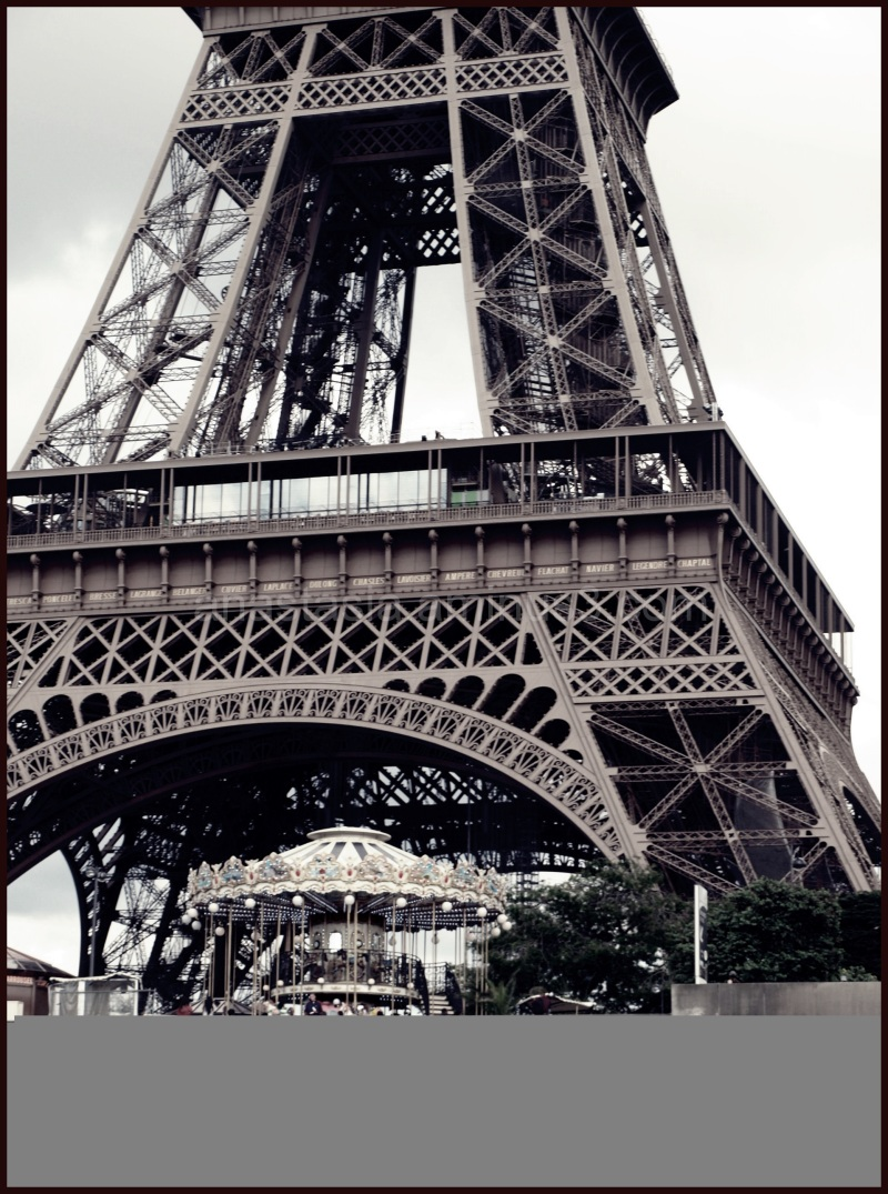 A photo of the Eiffel tower from my school trip.