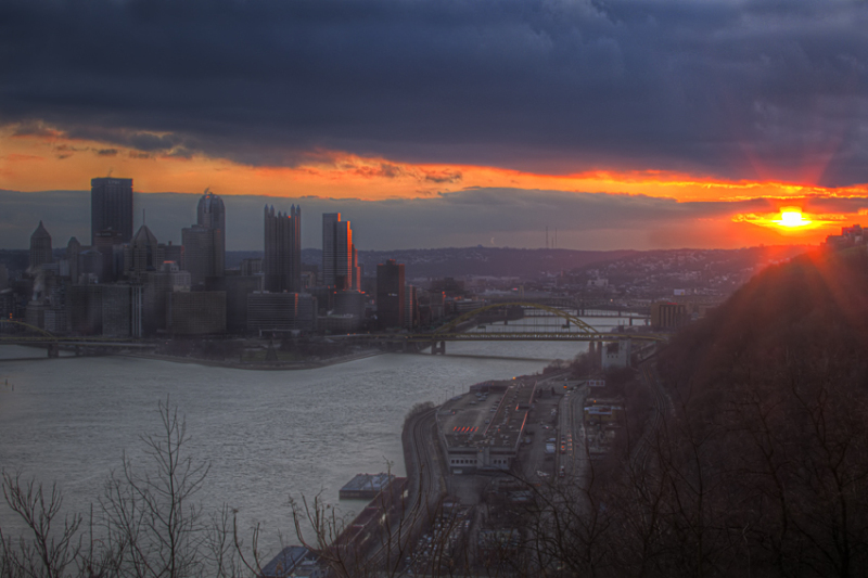 Downtown pittsburgh from West End