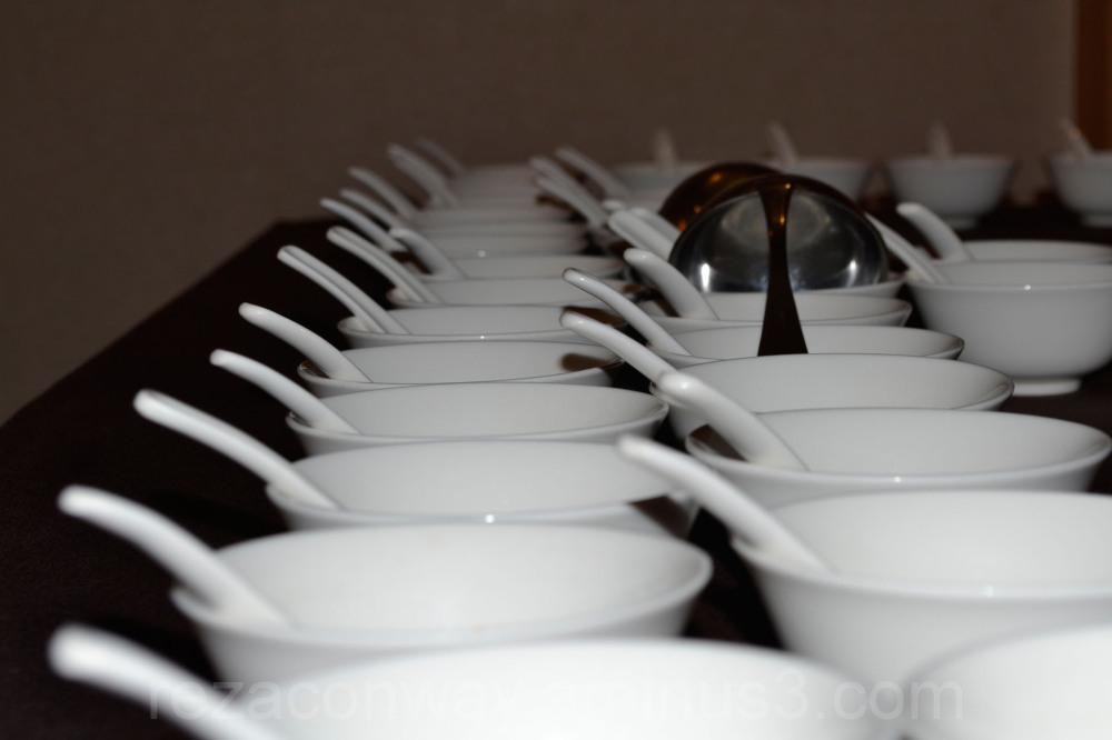 White porceline bowl