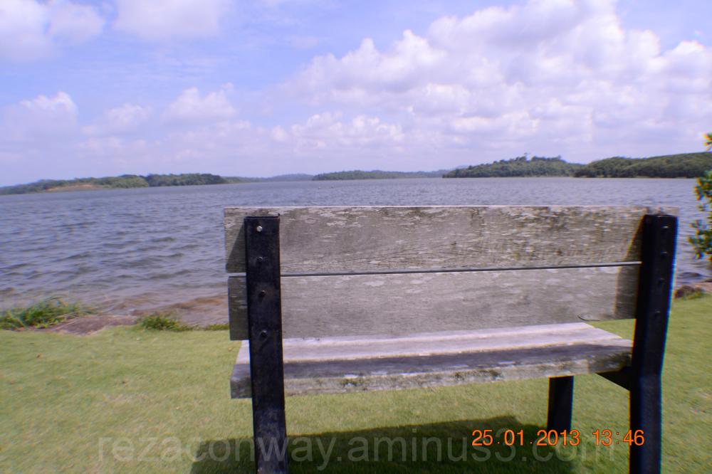 Chair and lagoon