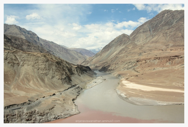 meeting of Indus (Sindhu) River and Zanskar River