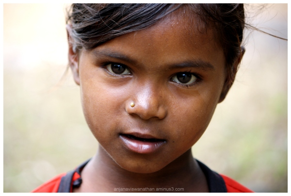 Portrait of a beautiful tribal girl