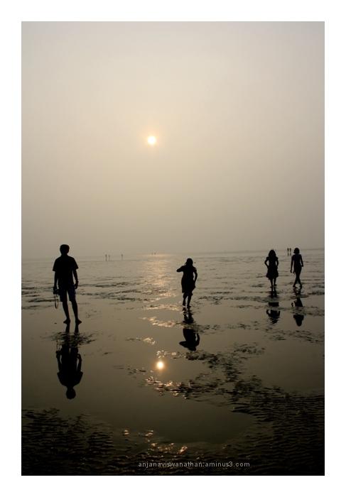 Receding Beach, chandipur beach, odisha, orissa