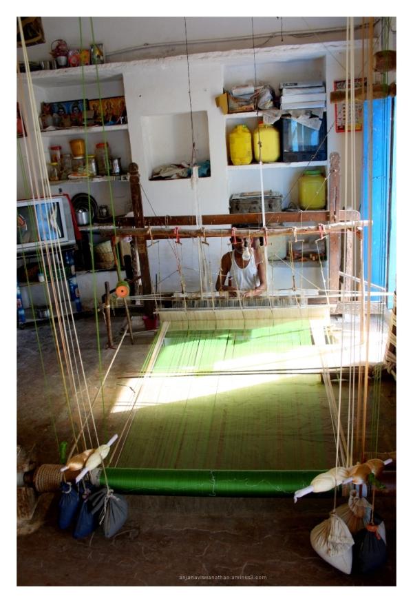 Weaver at work chanderi