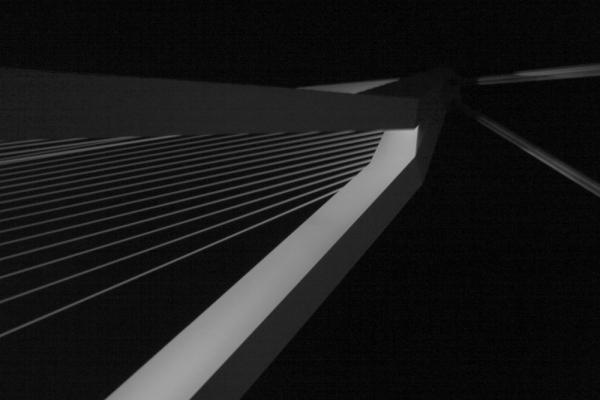 Bovenkant van de brug