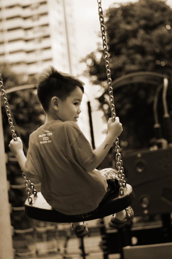 Kids, swing, playground