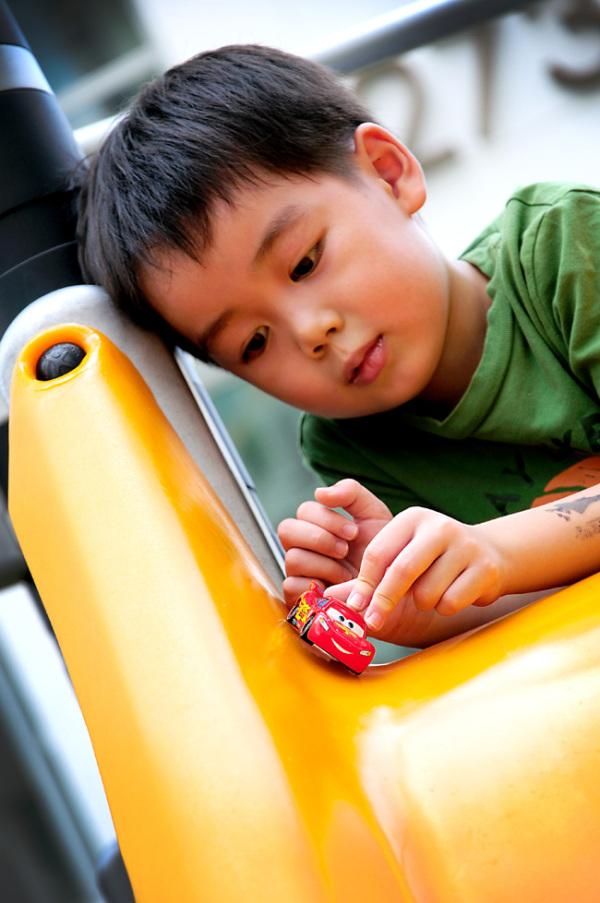 Kids portrait, playground