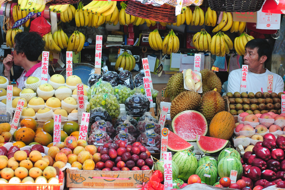 Fruit market in Hong Kong